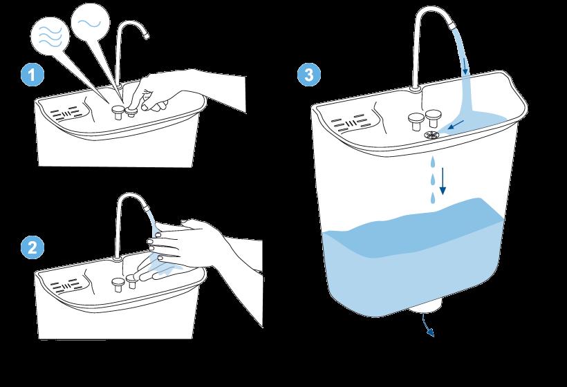 zásobník vody na WC